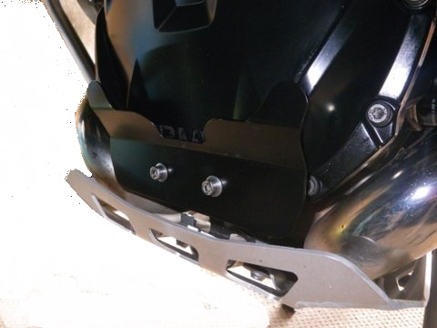 R1200GSA LC Front Engine Protector In Black to suit BMW OEM Sump Guard