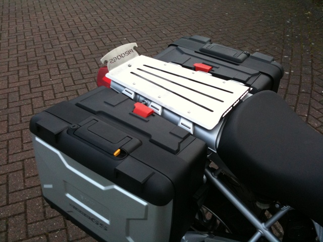 BMW R1200GS Extended Rear Seat Mounted Rack for models up to 2006