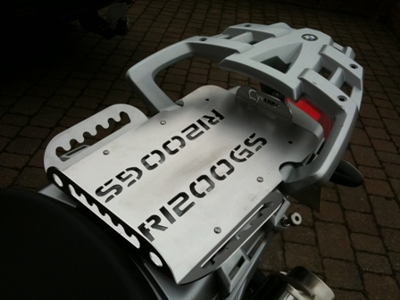 BMW R1200GS Rear Seat Area Covering Plate & Rack