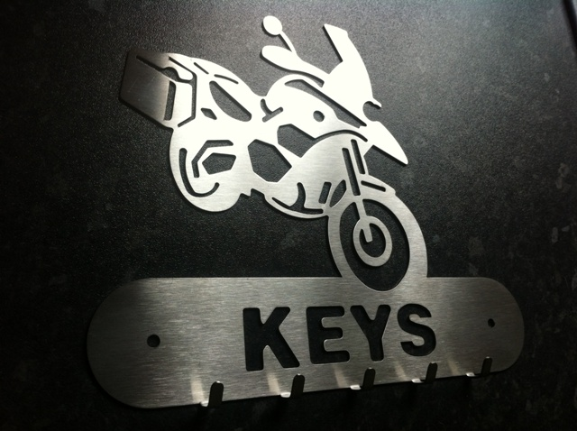 R1200GSA Hand Finished Stainless Steel Key Holder